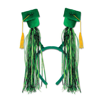 Grad Cap with Fringe Boppers