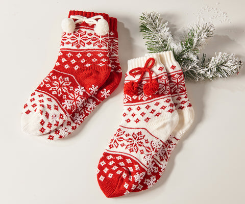 Acrylic Christmas Design Slipper Socks