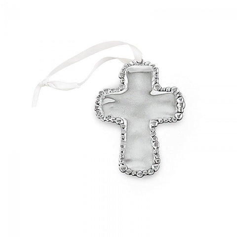 GIFTS OF FAITH Organic Pearl Cross Ornament