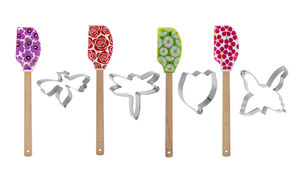 Flower Spatula with Cookie Cutters