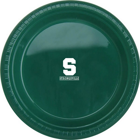 "Strongsville Graduation Party Colorware 9"" Plastic Plate / 25 pcs/pk"