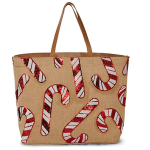 Christmas Dazzle Jute Totes