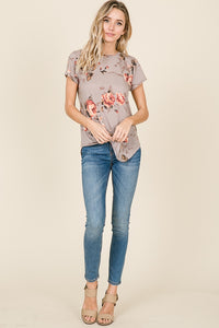 Taupe Floral Tunic
