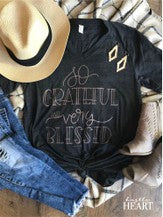 Grateful and Blessed V-Neck Shirt