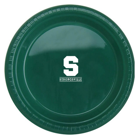 "Strongsville Graduation Party Colorware 7"" Plastic Plate / 25 pcs/pk"