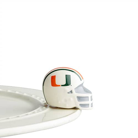 Nora Fleming University Miami Helmet Mini