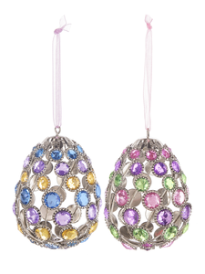 Hanging Gem Egg Ornaments