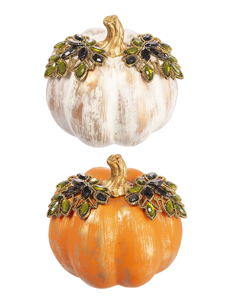 Kissing Crystals Ornate Pumpkin