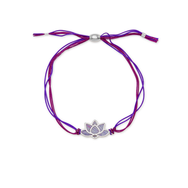 Lotus Adjustable Cord Bracelet