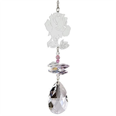 Crystal Fantasy Suncatcher - Rose