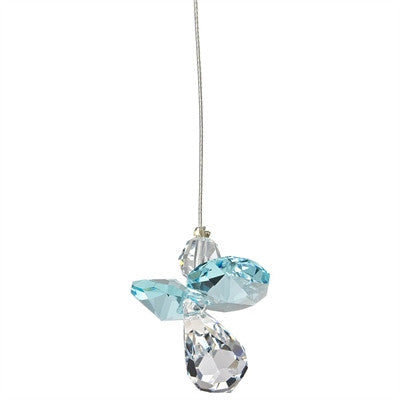 Crystal Guardian Angel Suncatcher - Aquamarine