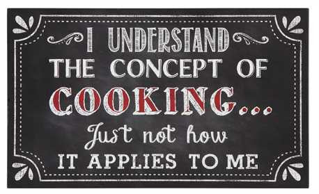 "Creative Co-op ""I Understand The Concept of Cooking"" Wall Décor"