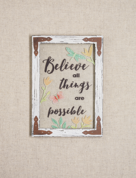 Believe All Things are Possible Plague