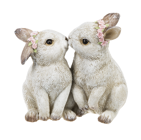 Kissing Bunnies Figurine