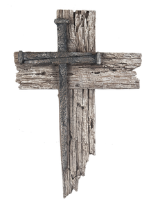 Nail Cross Plaque