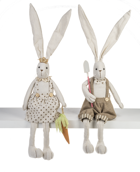 Stuffed Bunny Shelf Sitters