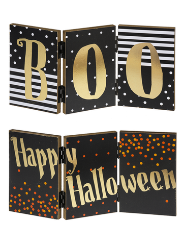 3 Panel Halloween Signs