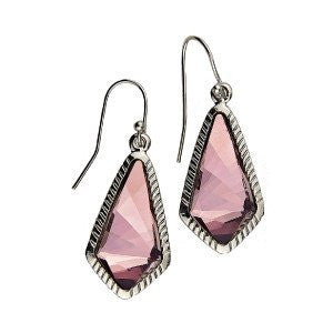 Luca + Danni Antique Pink Sloane Statement Earrings