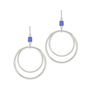 Luca + Danni Dylan Hoop Earrings in Sapphire