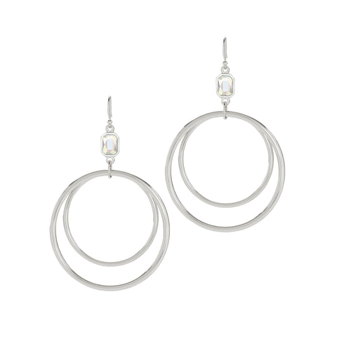 Luca + Danni Dylan Hoop Earrings in Crystal AB
