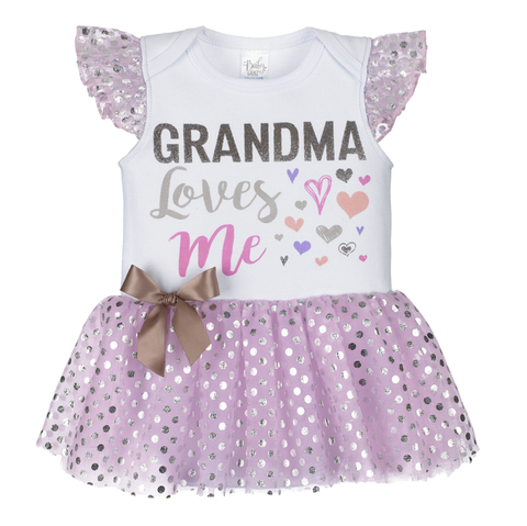 Diaper Shirt Tutu - Grandma Loves Me