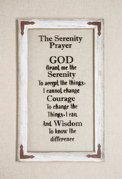 The Serenity Prayer Window Wall Plaque