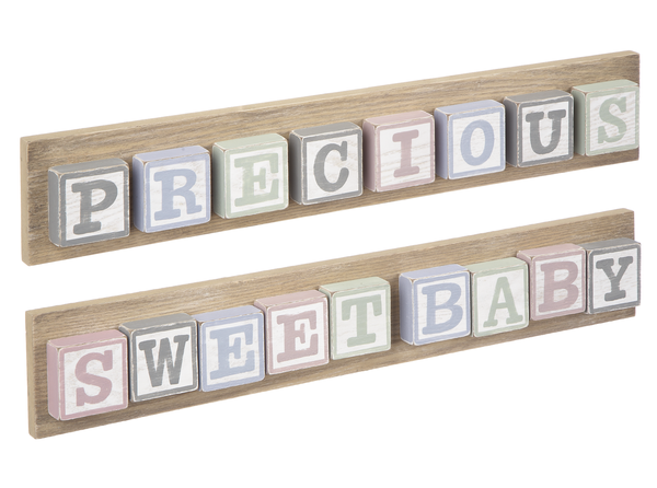Baby Blocks - Long Plaques