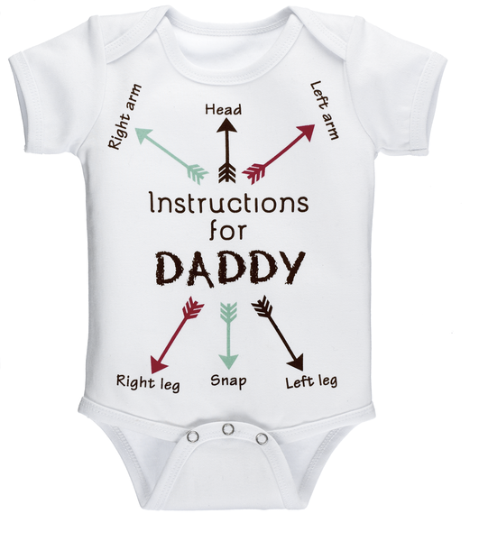 Diaper Shirt - Instructions for Daddy