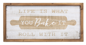 Life is what You bake it Wall Plaque