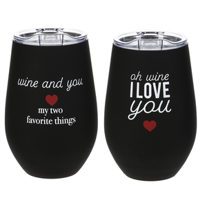 Stemless Steel Wine Glass
