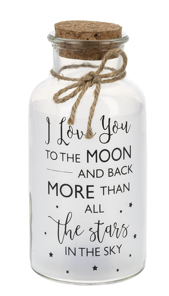 I Love You To the Moon and Back Light Up Jar