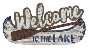 Wall Plaque - Welcome to the Lake