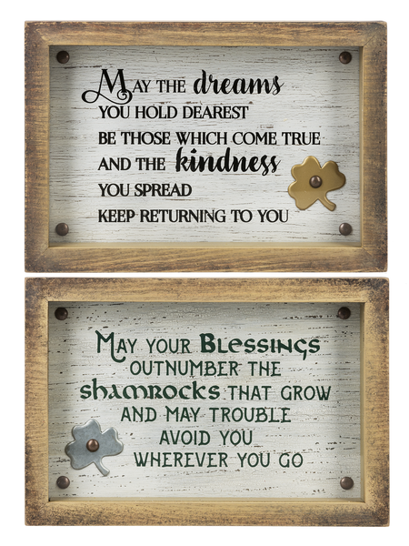 Irish Blessings Shadow Boxes