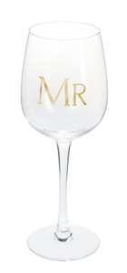 """Mr"" Stemmed Wine Glass"