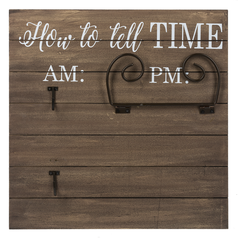 How To Tell Time Mug/Wine Glass Holder/Plaque