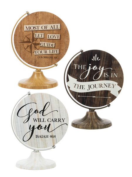 Joy in the Journey Rotating Globes