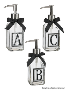 Monogram Soap/Lotion Dispensers