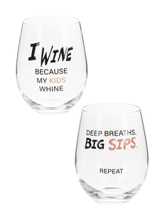 I Wine Stemless Wine Glasses