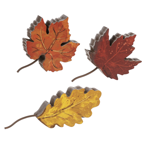 Transitions of Fall Leaves Figurines
