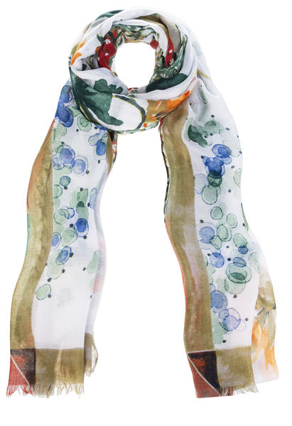 Watercolor Fall Flower Scarf