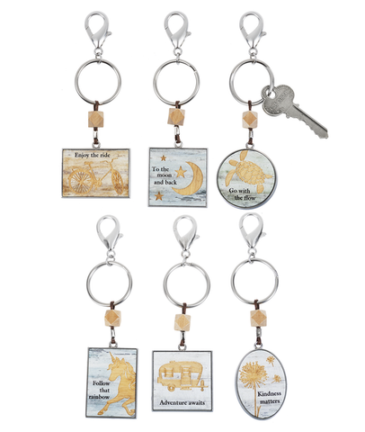 Woodcut Inspirations Key Rings