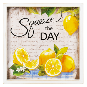 Squeeze the Day Framed Plaque
