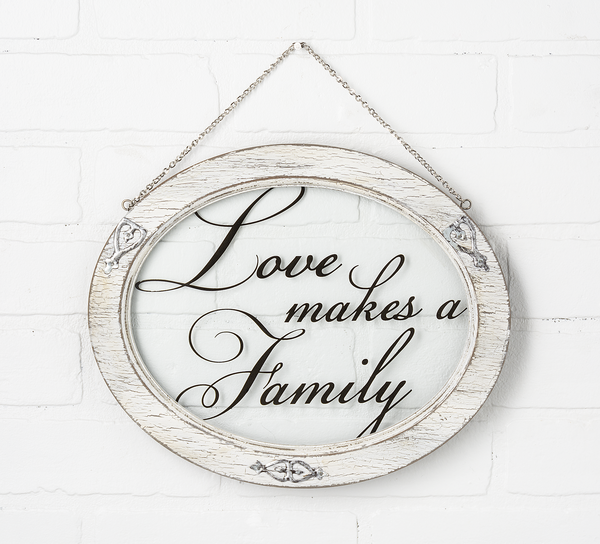 Love Makes a Family Window Plaque