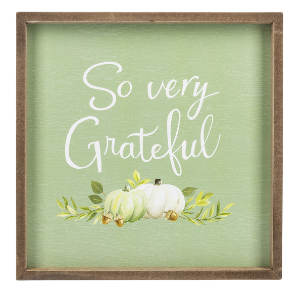 So Very Grateful Wall Plaque