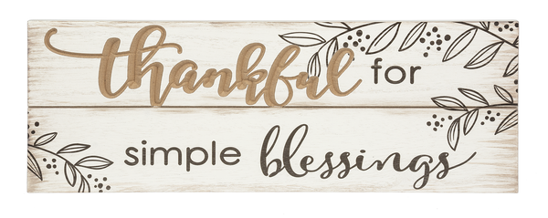 Routed Plaque - Thankful for Simple Blessing