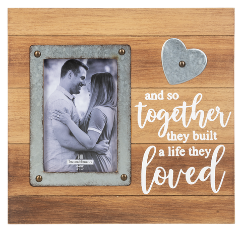 Anniversary Frame - And So Together They Built a Life They Loved