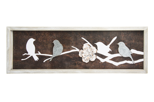 Birds and Flower Wall Plaque