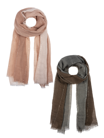 Sequin Two Tone Scarves