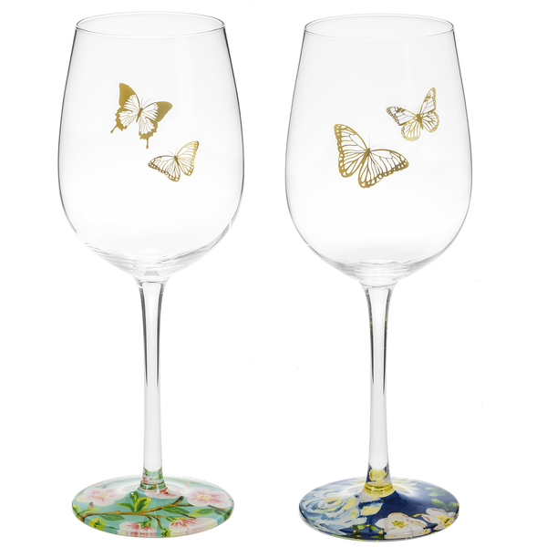 Spring Garden Wine Glasses
