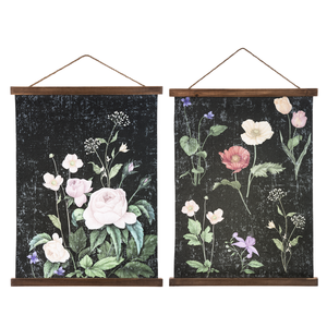 Floral Crinkle Paper Wall Art